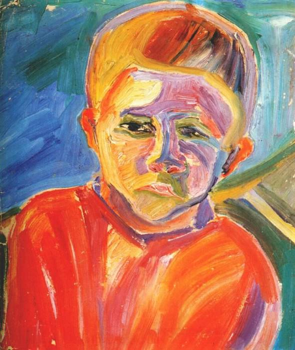 magaril portrait of a boy 1920s. Magaril