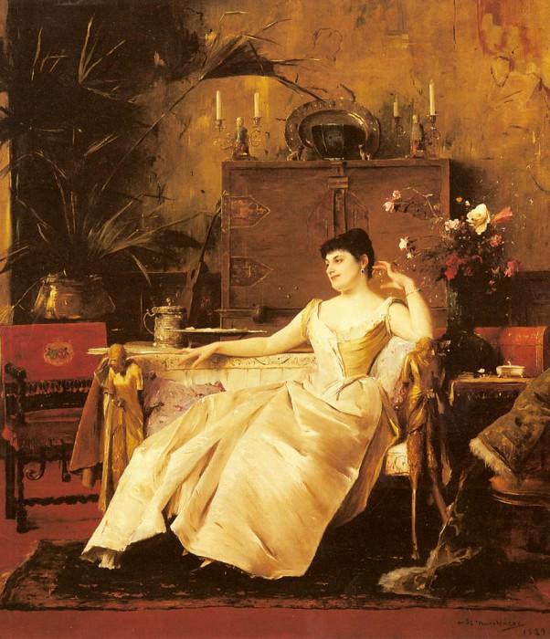 A Portrait Of The Princess Soutzo. Michel (Mihaly) Lieb Munkacsy
