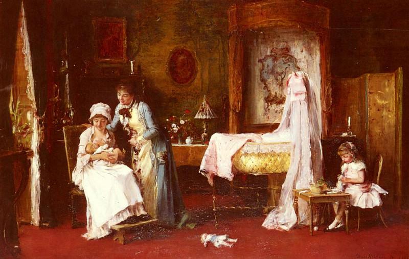 Maternal Happiness. Michel (Mihaly) Lieb Munkacsy