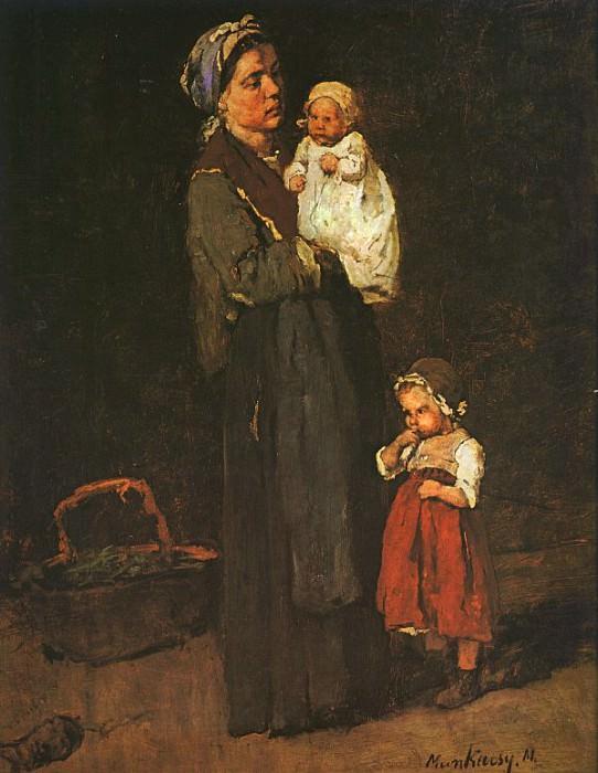 Набросок к картине -Ломбард-, 1874. Михай Мункачи
