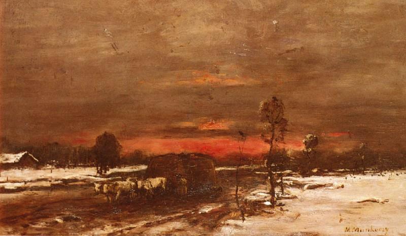 Зимний закат. Михай Мункачи