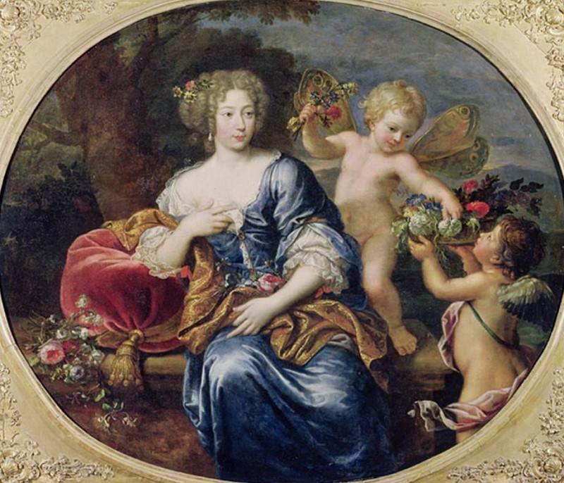 Portrait presumed to be Francoise-Athenais de Rochechouart de Mortemart (1640-1707) Marquise de Montespan. Pierre Mignard