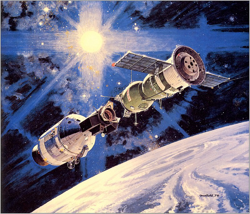 Linkup Of Apollo And Soyuz. Robert Mccall