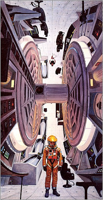 Inside 2001 Spaceship. Robert Mccall