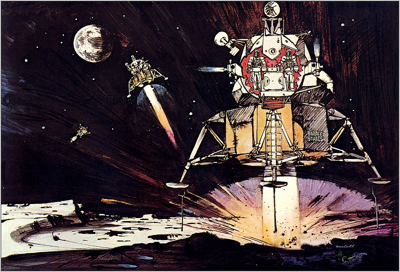 Eagle Touches Down On Mars. Robert Mccall