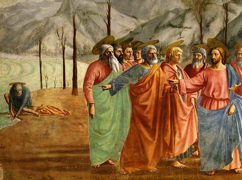 Masaccio Il tributo della moneta. Tommaso Masaccio