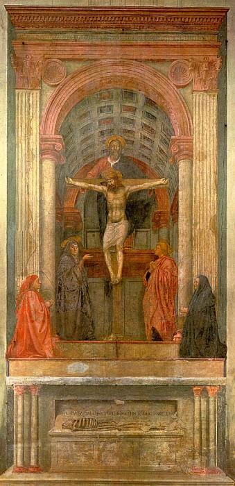 The Holy Trinity with The Virgin and St. John, 1425. Tommaso Masaccio