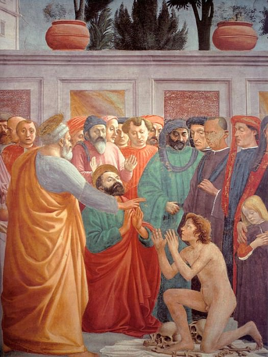Raising the Son of Theophilus (Later finished by Fi. Tommaso Masaccio