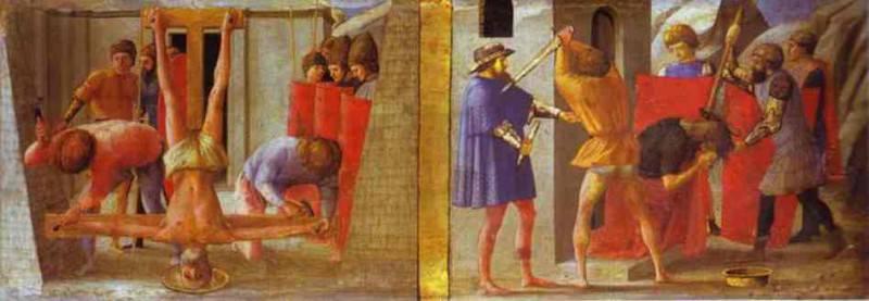 La crocifissione di S.Pietro. Tommaso Masaccio