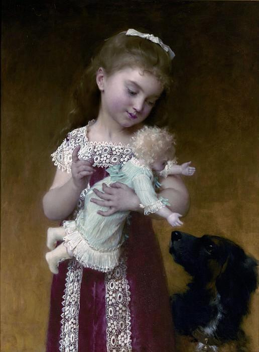 1882 02 le jeune fille et la poupee. Emile Munier
