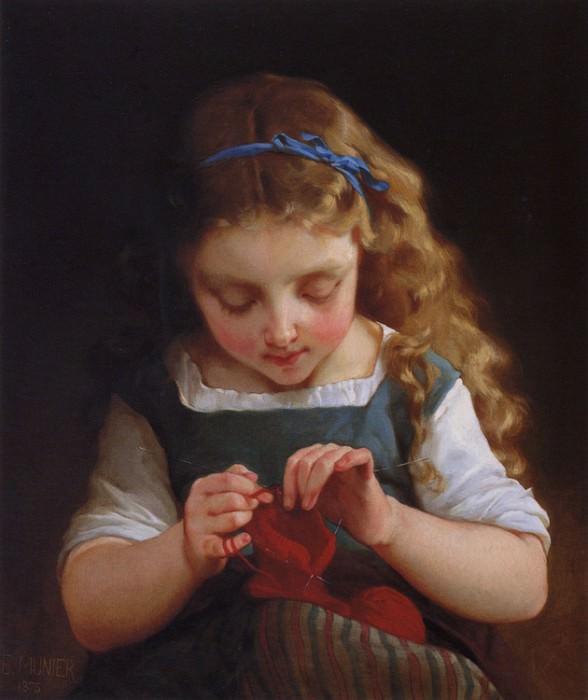 1875 2 a careful stitch. Emile Munier