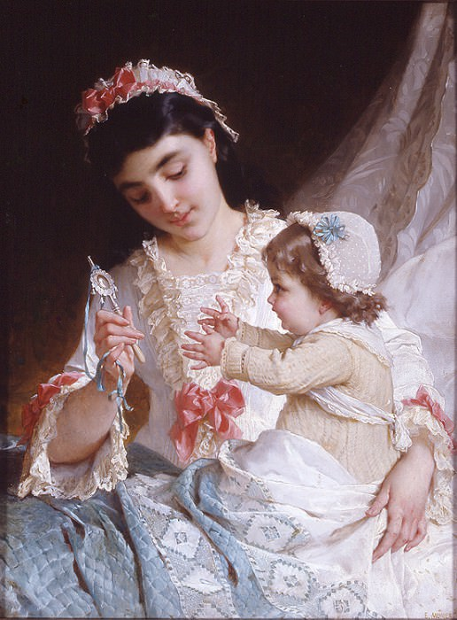 nd 10 distracting the baby. Emile Munier