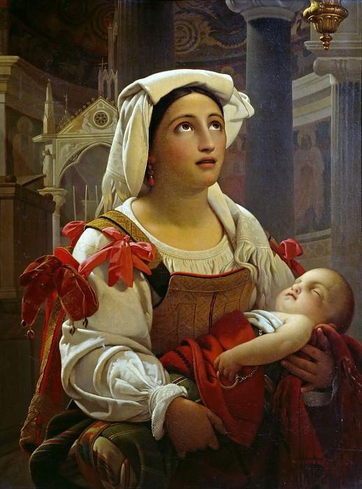 Римлянка со своим ребенком. Ян Баптист Лодевик Мас