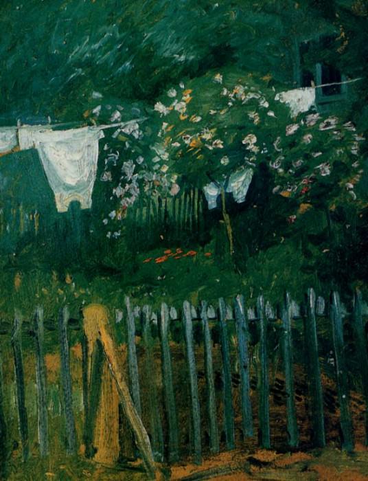 La Lessive dans le jardin. August Macke