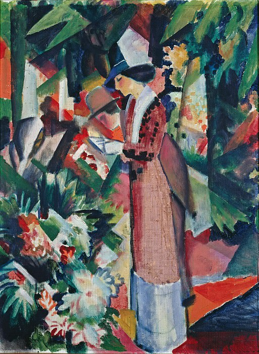 Stroll amongst Flowers. August Macke