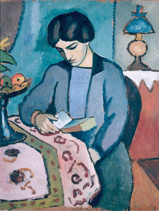 The Artists Wife. August Macke