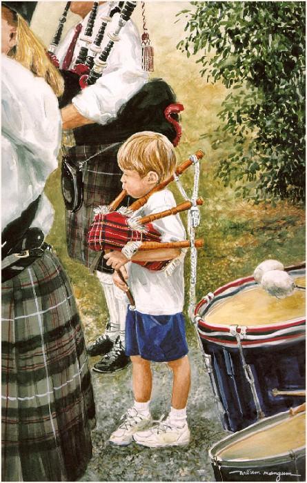 Young Highlander. William Mangum