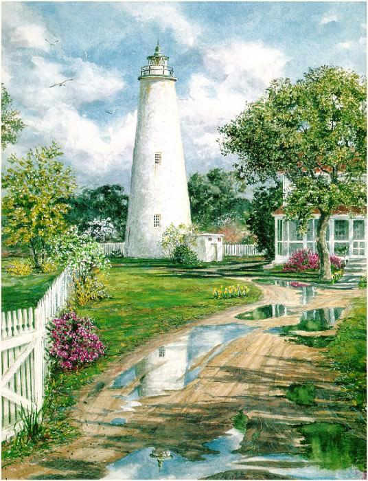 Ocracoke Lighthouse detail. William Mangum