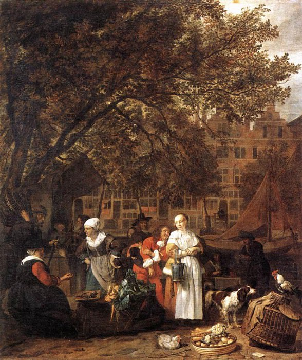 Vegetable Market In Amsterdam. Gabriel Metsu