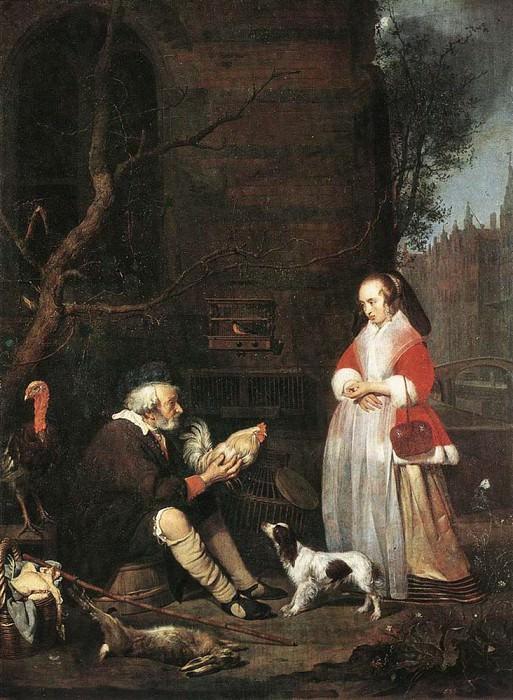 Poultry Seller. Gabriel Metsu