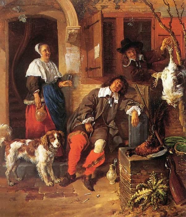 The Sleeping Sportsman. Gabriel Metsu