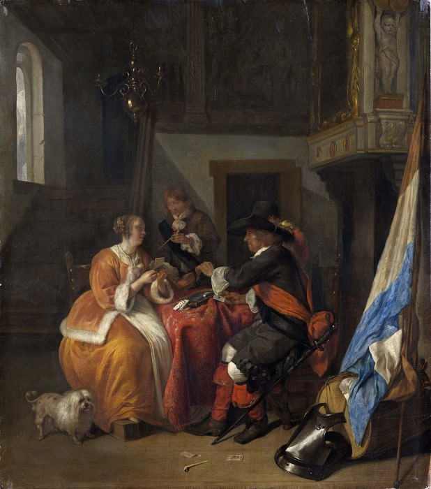 A Card Game. Gabriel Metsu