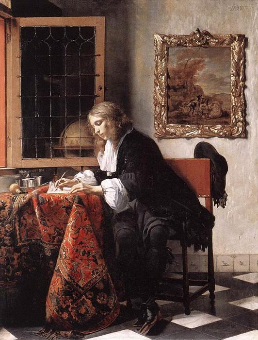 Man Writing A Letter. Gabriel Metsu