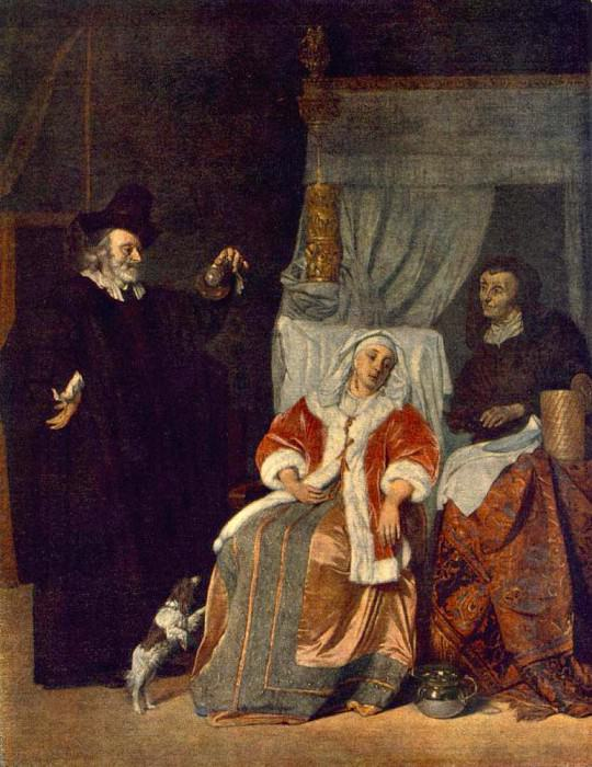 Visit Of The Physician. Gabriel Metsu