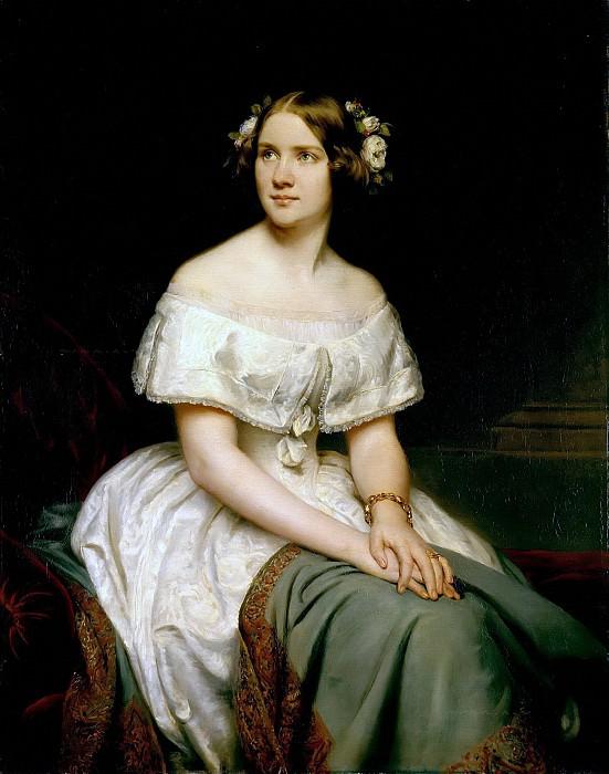Portrait of the Singer Jenny Lind. Eduard Magnus