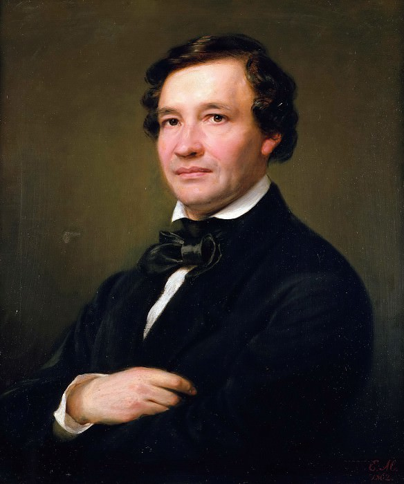 Portrait of the pianist and composer Wilhelm Taubert. Eduard Magnus