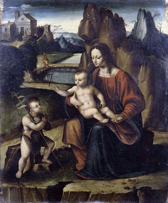 Мадонна с младенцем и Сан-Джованнино. Чезаре Маньи