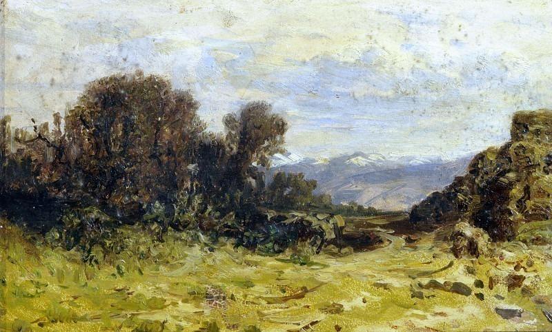 Горный пейзаж. Карло Манчини