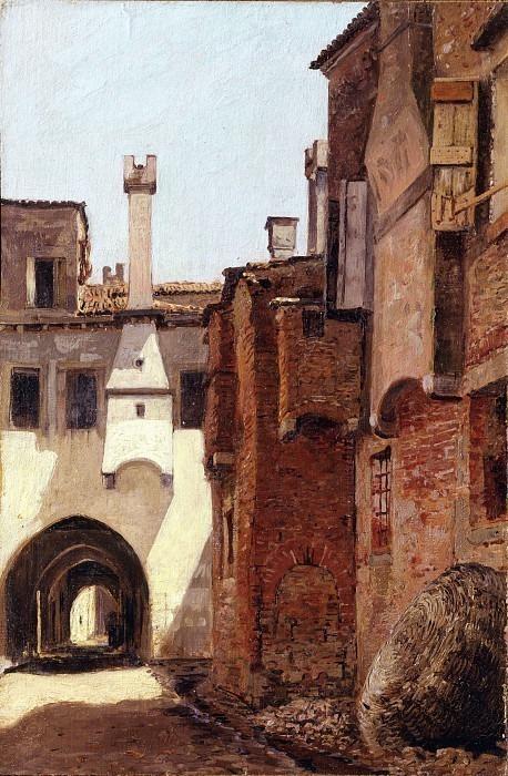 Вид на аллею в Кьоджиа. Карло Манчини