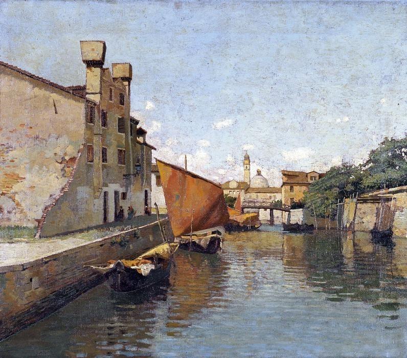 Вид на канал в Кьоджиа. Карло Манчини