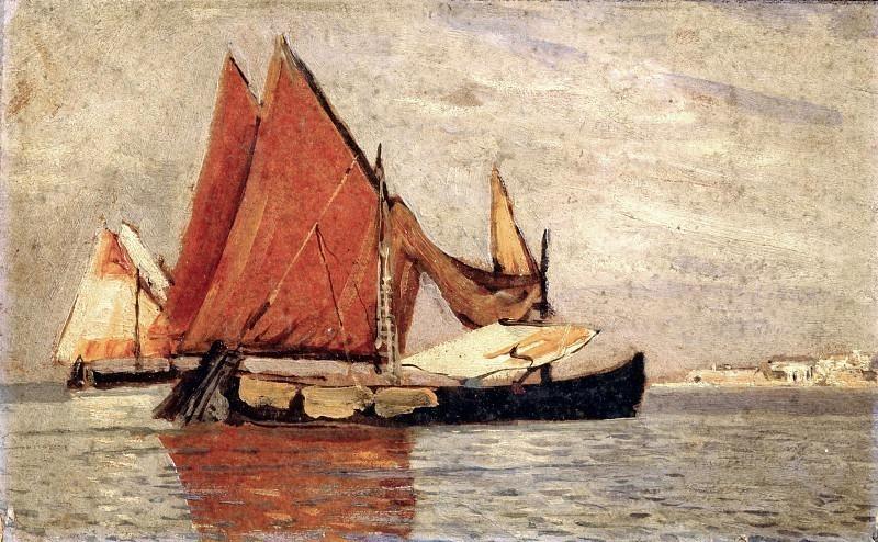 Вид на море Кьоджиа с паранами. Карло Манчини