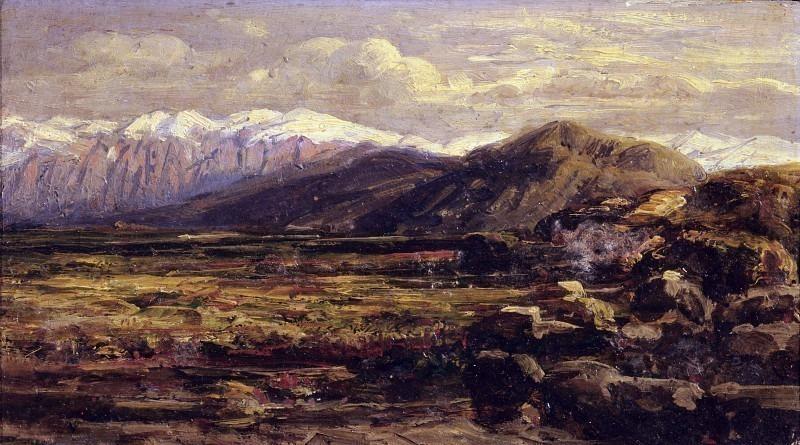 Вид на горы в Шотландии. Карло Манчини