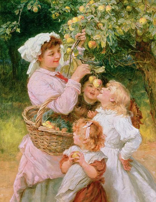 Ловля яблок зубами. Фредерик Морган