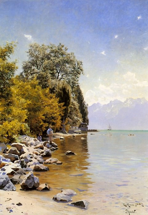 Fishing On Lac Leman. Peder Mork Monsted