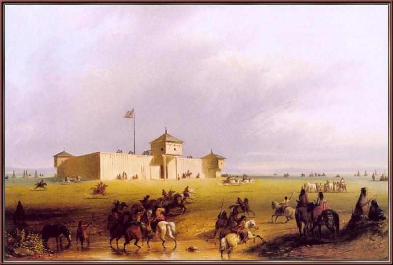 Miller Fort-William-on-the-Laramie-sj. Alfred Jacob Miller