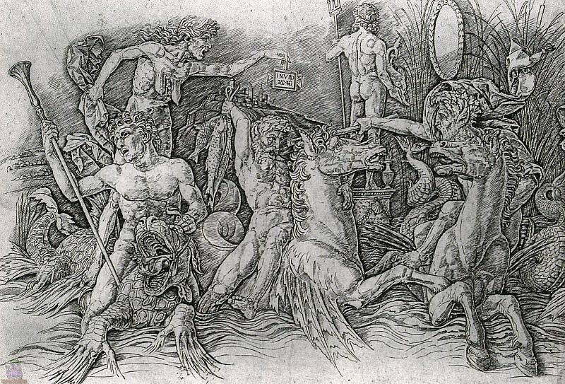 Battle of the Sea Gods 1 (1470). Andrea Mantegna