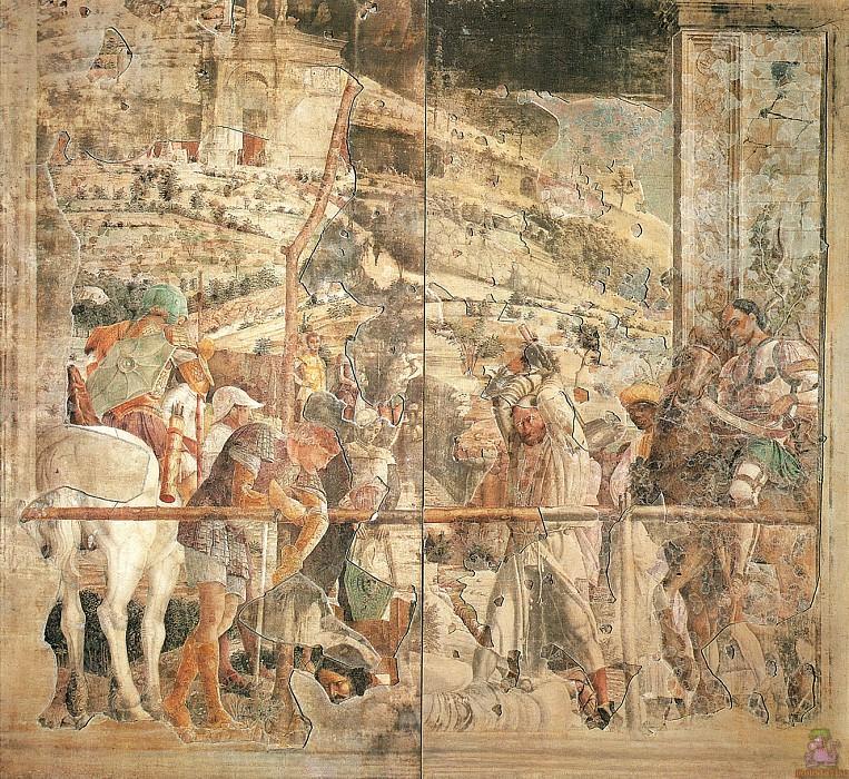 Martyrdom of St.James (1448). Andrea Mantegna