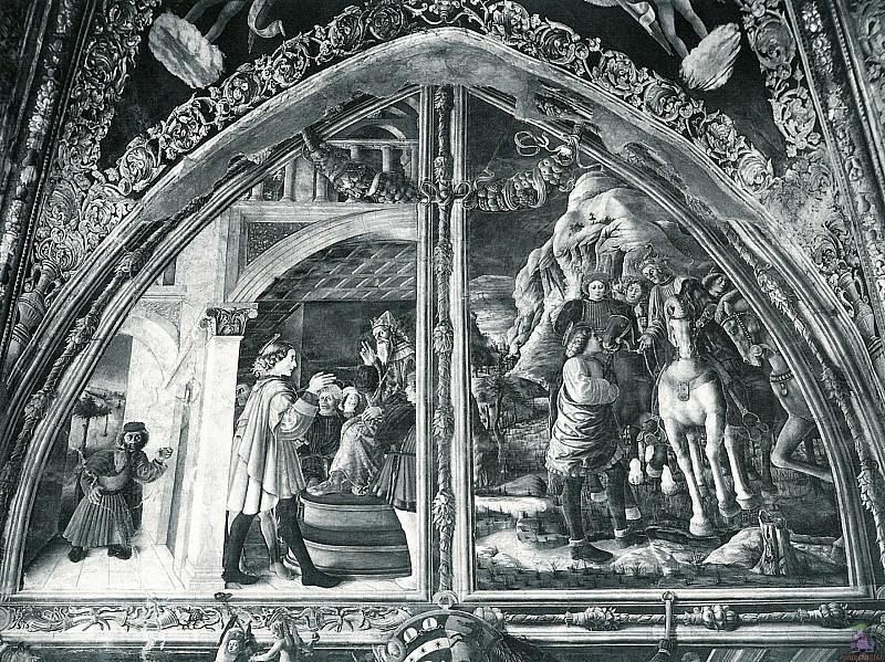 Сцены из жизни Св. Христофора (1448). Андреа Мантенья