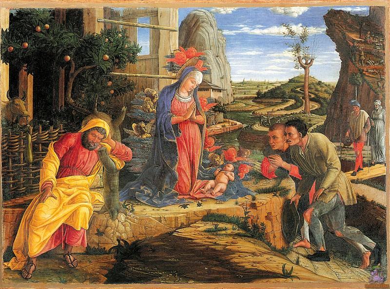 Adoration of the Shepherds (1450-1451). Andrea Mantegna