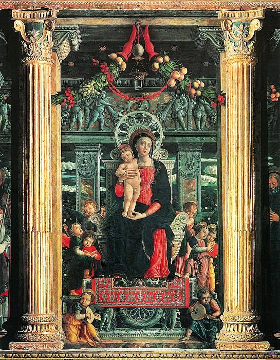 San Zeno Altarpiece (1457-1460) (detail). Andrea Mantegna