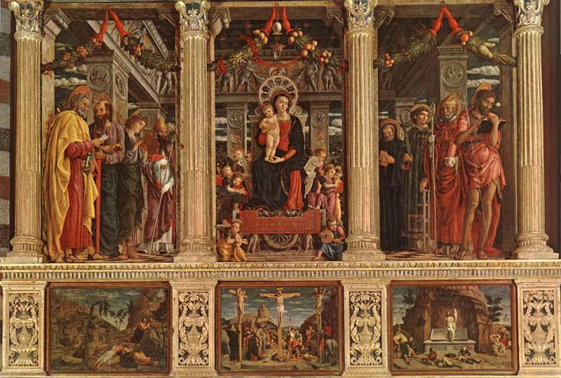 ALTARPIECE, SAN ZENO, VERONA. Andrea Mantegna