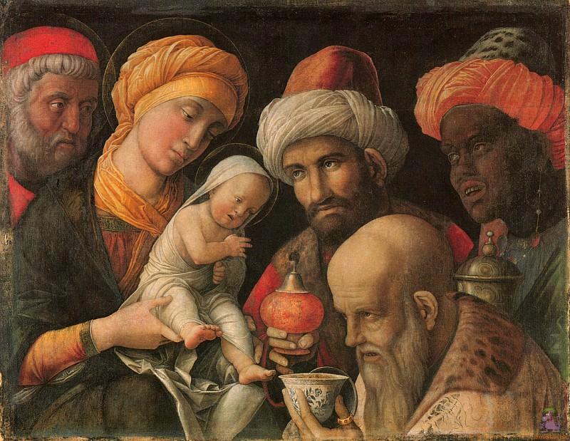 Adoration of the Magi (1497-1500). Andrea Mantegna