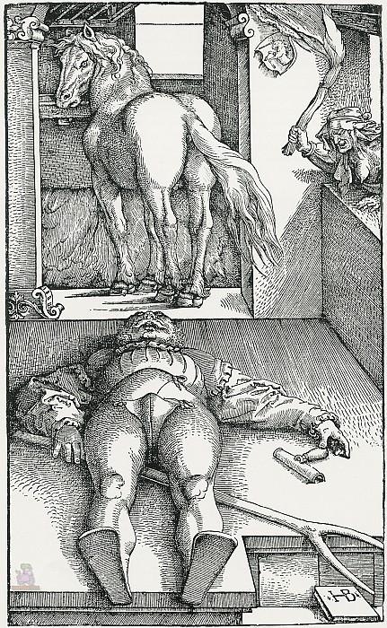 Околдованный грум (1453). Андреа Мантенья