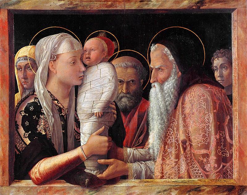 Presentation at the Temple 1 (1453). Andrea Mantegna
