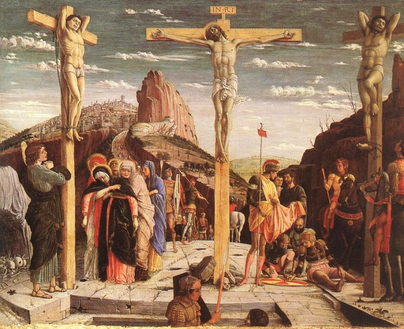 MANTEGNA CRUCIFIXION, LOUVRE. Andrea Mantegna