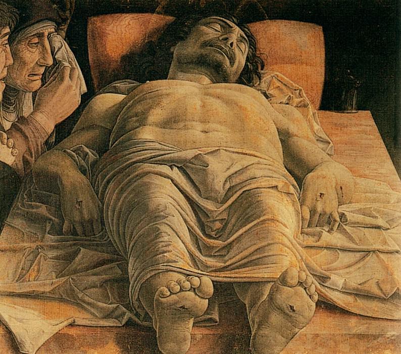 The dead Christ. Andrea Mantegna